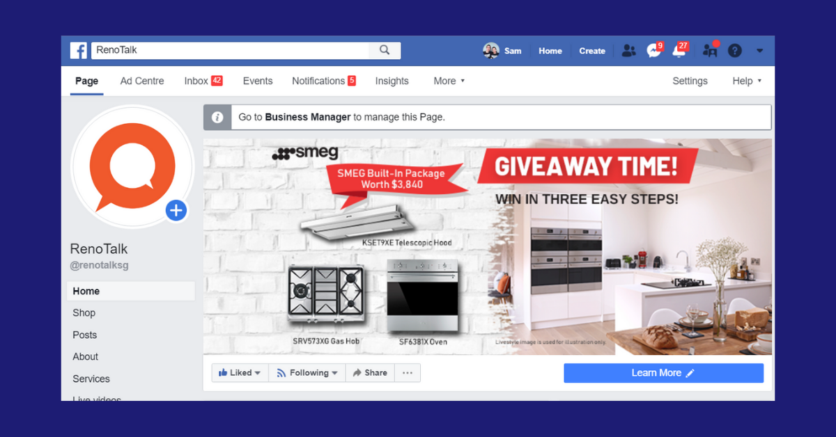 facebook cover banner ad renotalk